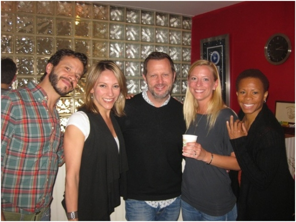 Nick Kenkel, Erica Mansfield, Rob Ashford, Ashley Amber and Bahiyah Hibah at Ricky Martin, Elena Roger, Michael Cerveris and the Cast of EVITA in the Recording Studio!
