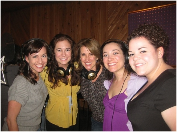 Wendi Bergamini, Emily Mechler, Rebecca Eichenberry, Laurel Harris and Melanie Field at Ricky Martin, Elena Roger, Michael Cerveris and the Cast of EVITA in the Recording Studio!