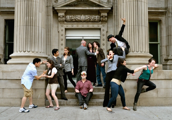 Daniel Kim, Heather Motut, John Chou, Chloe Payne, Michael McLeister (seated in foreground), Thomas Gough (standing in background), Kathryn Malek, Glyn Bowerman, Adriana Crivici (below), Aaron Rothermund (above), Leah Holder, Cydney Penner.