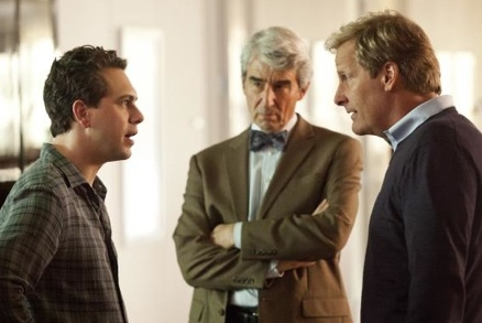 Thomas Sadoski, Sam Waterston & Jeff Daniels at First Look - Jeff Daniels, Emily Mortimer in HBO's THE NEWSROOM
