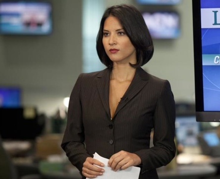 Olivia Munn at First Look - Jeff Daniels, Emily Mortimer in HBO's THE NEWSROOM