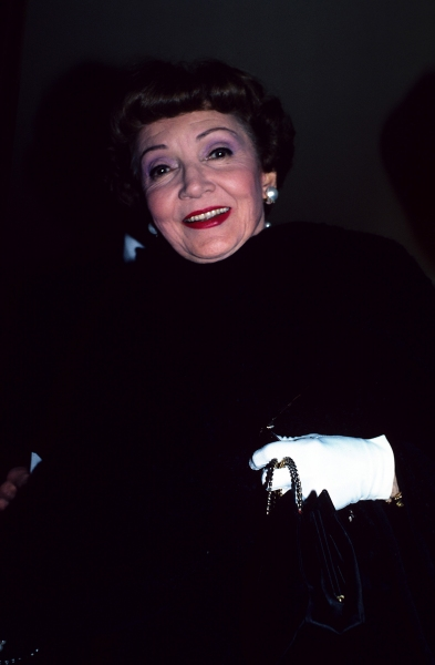 Claudette Colbert photographed in 1981 in New York City.  Photo
