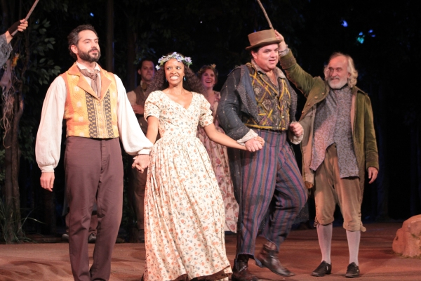 Omar Metwally, Renee Elise Goldsberry, Oliver Platt, MacIntyre Dixon at AS YOU LIKE IT Opens at the Delacorte Theatre - Oliver Platt & More!