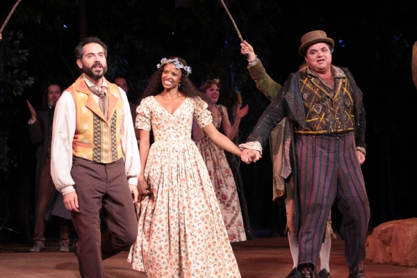 Omar Metwally, Renee Elise Goldsberry, Oliver Platt at AS YOU LIKE IT Opens at the Delacorte Theatre - Oliver Platt & More!