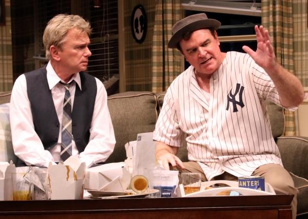 Pat Sajak plays Felix Ungar with Joe Moore as Oscar Madison  Photo