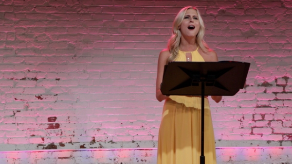Stephanie Gibson at Julia Murney, Hunter Ryan Herdlicka and More at QUILT - A MUSICAL CELEBRATION Reading