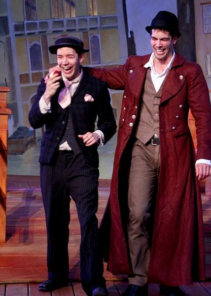 Jack Moran as Dromio of Syracuse and Matthew Simpson as Antipholes of Syracuse
