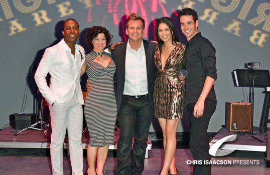 Leslie Odom Jr, Karissa Noel, Producer Chris Isaacson, Arielle Jacobs & Chad Doreck  at Upright Cabaret's VIVA LAS VEGAS Starring SMASH's Leslie Odom Jr, Patrick Cassidy & more!