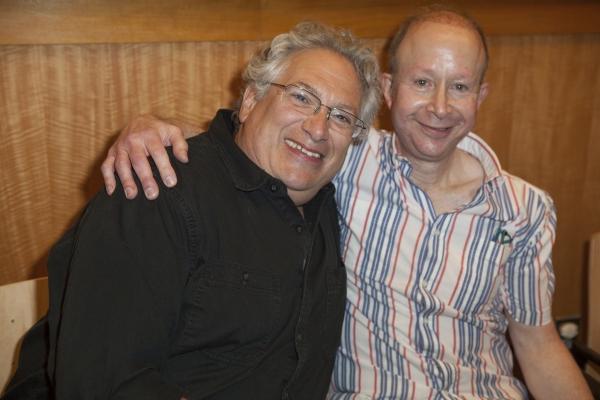Harvey Fierstein and Jack Feldman at NEWSIES Cast Performs at Barnes & Noble