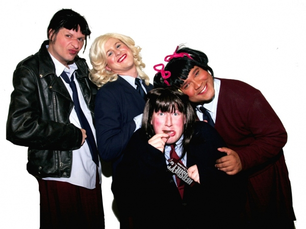 Jo (Jamie Richards), Blair (Richard Payton), Natalie (Joe Plambeck), and Tootie (Jerry Haines)