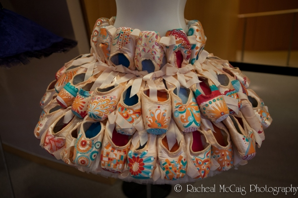 Tutu by Jennifer Zimmerman made out of 60 hand pained point shoes