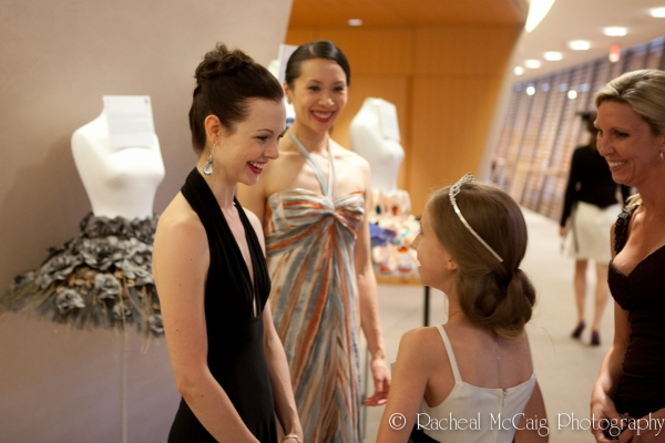 A young fan greets the ballerinas