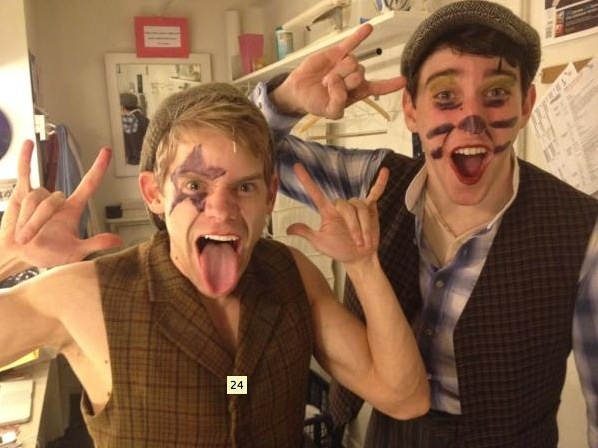 NEWSIES' Andrew Keenan-Bolger and Ben Fankhauser ‏
