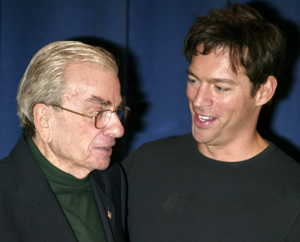 "Harry Connick Jr. and Richard Adler attending a candid photo op with the cast of the Roundabout Theatre Company's Broadway Production of ""THE PAJAMA GAME"""