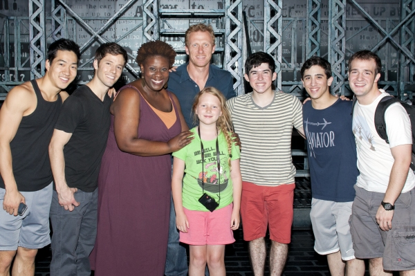 Photo Flash: BRAVE's Kevin McKidd Visits NEWSIES