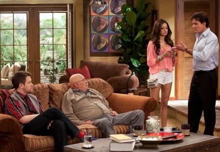 Michael Arden, Barry Corbin, Noureen DeWulf & Charlie Sheen
