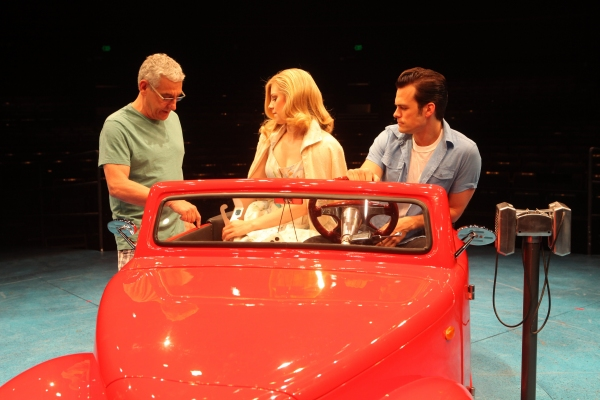 Director Glenn Casale with Kirsten Scott and Brandon Albright at First Look at Kirsten Scott and Brandon Albright in Music Circus' GREASE at the Wells Fargo Pavilion