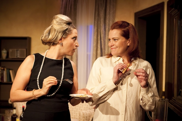 Deanna Henson and Molly Lovell in a scene from Long View Theater Company's production of Paul Zindel's AND MISS REARDON DRINKS A LITTLE.