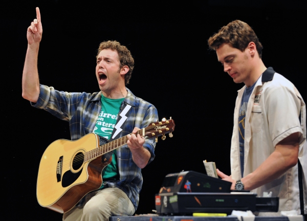Alex Goodrich and Erich Berg at Sneak Peek at Erich Bergen and More in HERO THE MUSICAL