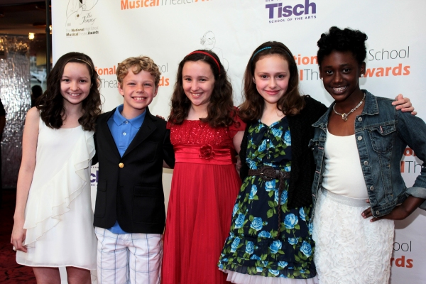 Kara Oates, Tyler Merna, Camille Mancuso, Annie Baltic and Nia Ashleigh at Constantine Maroulis & Deborah Cox Host High School Jimmy Awards!