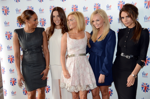 The Spice Girls - Melanie Brown, Melanie Chisholm, Geri Halliwell, Emma Bunton and Victoria Beckham