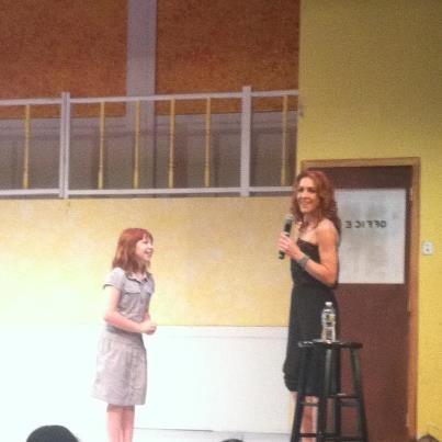 Amelia Rose Allen and Andrea McArdle at Andrea McArdle Visits ANNIE at the Surflight Theatre