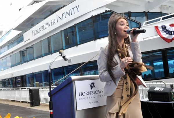 Photo Flash: Anna Maria Perez de Tagle Sings at Hornblower Infinity Ceremony