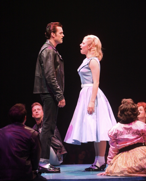 Brandon Albright and Kirsten Scott at  Complete Look at Kirsten Scott, Brandon Albright, et al. in Music Circus' GREASE