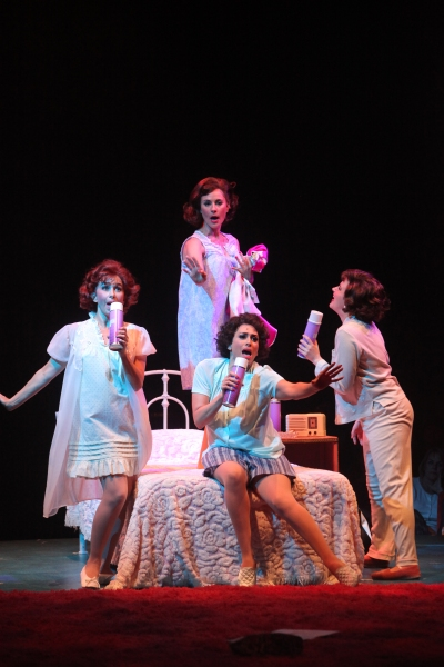 Beth Malone, Melissa WolfKlain, Lesli Margherita and Melissa Fahn at  Complete Look at Kirsten Scott, Brandon Albright, et al. in Music Circus' GREASE