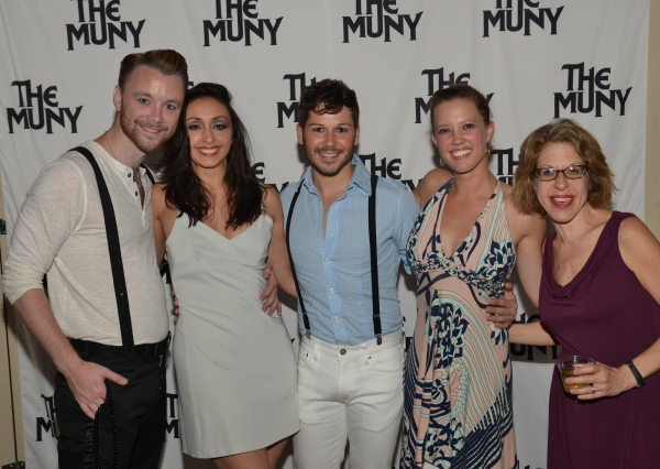 Barry Busby, Natascia Diaz, KC Fredericks, Patti Murin and Jackie Hoffman at Patti Murin, Justin Guarini and More in CHICAGO Opening Night at The Muny!
