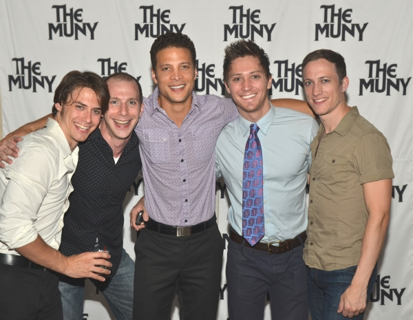 Rory Max Kaplan, Charlie Alterman, Justin Guarini, Adam Jepsen and Gerard Henry at Patti Murin, Justin Guarini and More in CHICAGO Opening Night at The Muny!