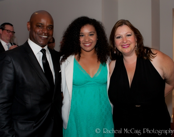 Sterling Jarvis with his wife and daughter at 2012 Dora Mavor Moore Awards
