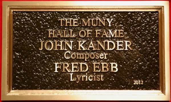 John Kander and Fred Ebb's plaque at John Kander Joins The Muny Hall of Fame