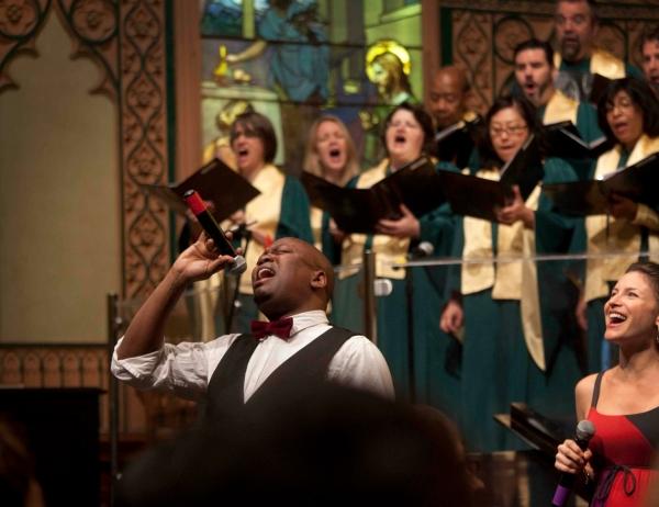Tituss Burgess & Jenny Powers at Tituss Burgess Performs at Middle Church