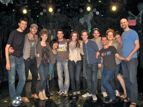 Ann Harada, Director Marshall Pailet, Allison Williams and the entire cast of TRIASSIC PARQ The Musical at Ann Harada, Allison Williams Visit TRIASSIC PARQ