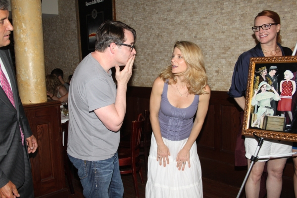 Matthew Broderick, Robyn Hurder, Kelli O'Hara and Jennifer Laura Thompson at Tony's di Napoli Inducts NICE WORK IF YOU CAN GET IT onto Broadway Wall Of Fame!