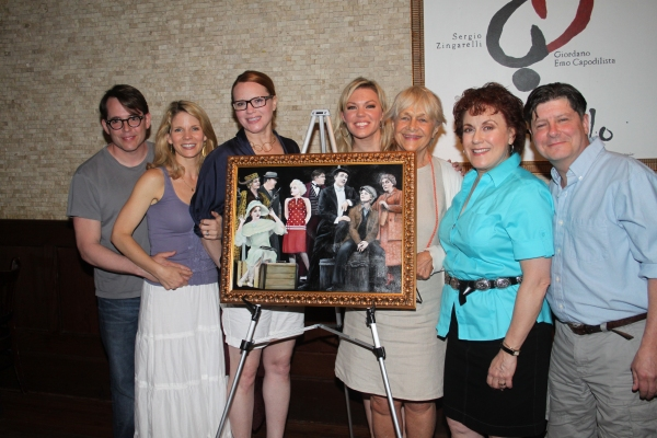 Matthew Broderick, Kelli O'Hara, Jennifer Laura Thompson, Robyn Hurder, Estelle Parsons, Judy Kaye and Michael McGrath at Tony's di Napoli Inducts NICE WORK IF YOU CAN GET IT onto Broadway Wall Of Fame!