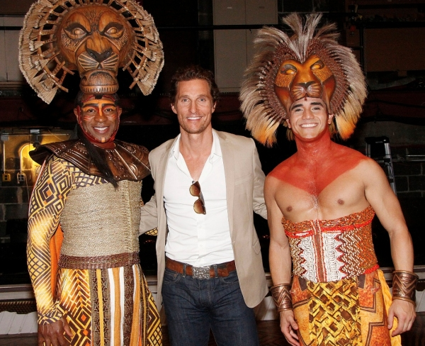 Photo Flash: Matthew McConaughey Visits THE LION KING
