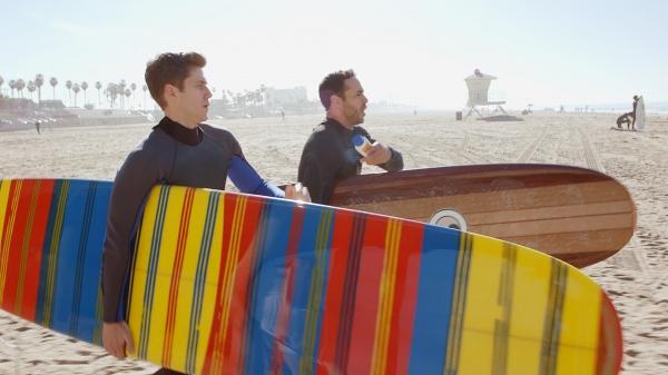 Aaron Tveit and Daniel Sunjata at USA Network Picks Up GRACELAND, Starring Aaron Tveit and Daniel Sunjata