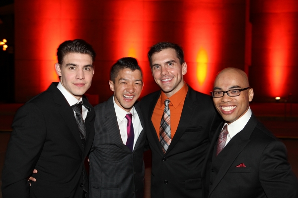 Andrew Veenstra, Christopher Mai, Derek Stratton and Rob Laqui at The Stars Walk the Red Carpet for WAR HORSE Opening Night in LA!