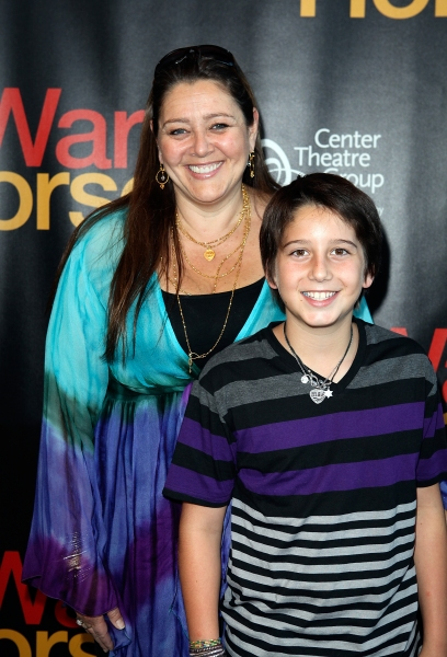 Camryn Manheim and Milo Manheim at The Stars Walk the Red Carpet for WAR HORSE Opening Night in LA!