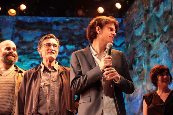 Matt D'Amico, Roger Rees, Alex Timbers, Paloma Young at An Emotional and Funny Farewell to Christian Borle from PETER AND THE STARCATCHER