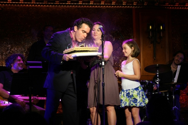 Brian d'Arcy James with Wife Jennifer Prescott and Daughter Grace James