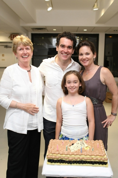 Brian d'Arcy James with Mother Mary James,  Wife Jennifer Prescott and Daughter Grace James