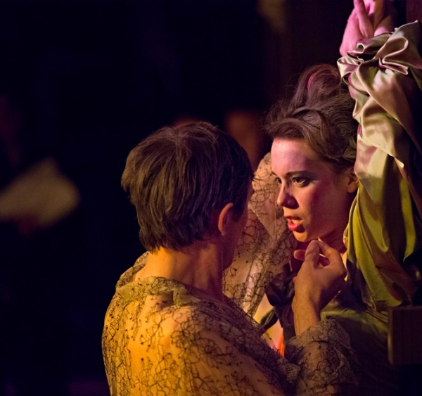 Daniel Weyman (Willmore) and  Chloe Pirrie (Florinda)