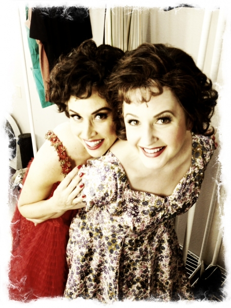 Lesli Margherita  and Melissa WolfKlain at  Exclusive Look at Kirsten Scott, Brandon Albright, et al. in Music Circus' GREASE