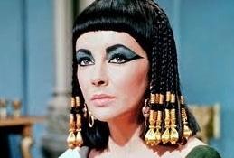Elizabeth Taylor at Lindsay Lohan as 'Cleopatra' in Lifetime's LIZ & DICK