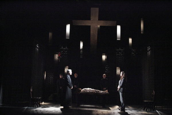 3 at First Look at Brooke Shields, Richard Chamberlain, Emily Yetter et al. in THE EXORCIST at Geffen Playhouse!