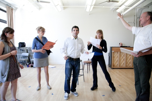 Lisa Sucharski, Catherine Cox, Jarrod Spector, Jillian Louis and Kevin B. McGlynn at Jarrod Spector, Catherine Cox et al. in Rehearsal for NYMF's FLAMBÉ DREAMS