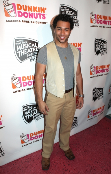 Corbin Bleu  at Corbin Bleu, Jeremy Kushnier et al. Backstage at the NYMF Preview Performance!